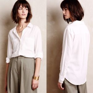 • Anthropologie • Lilith ButtonDown Shirt White